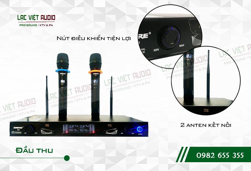 Micro Shure A9 có thiết kế hiện đại và dễ sử dụng