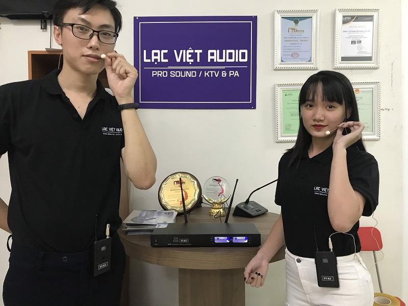 Micro không dây cài tai KING FT K2 tại Showroom Lạc Việt Audio