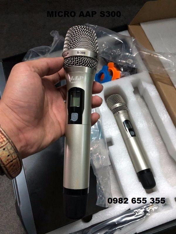 Micro hát karaoke không dây AAP S300.
