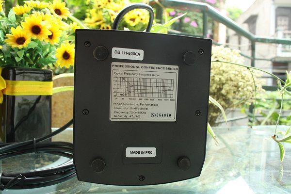 Thông số dưới chân đề micro chủ tịch DB LH-8000A