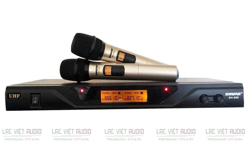 Micro không dây SHURE SH888 được người tiêu dùng đánh giá cao về thiết kế cũng như chất lượng sản phẩm