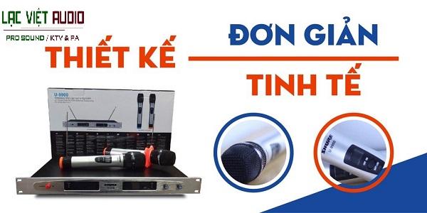 Micro không dây SHURE U9900 có thiết kế đơn giản và tinh tế