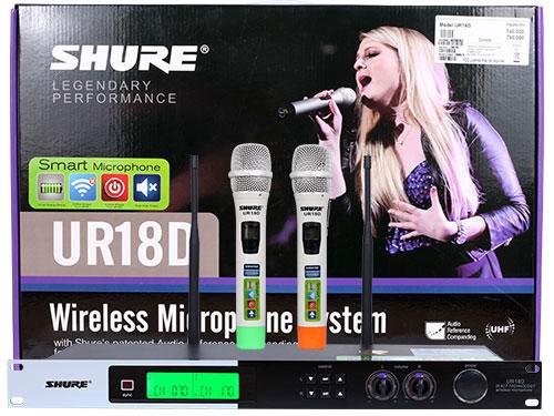 Micro Shure UR18D 4 râu sóng cực khỏe