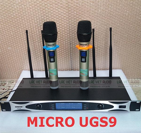Micro không dây Shure UGS9 được đánh giá cao về thiết kế cũng như chất lượng âm thanh