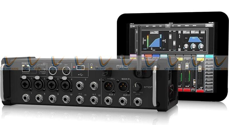 Midas 12 Mixer có thể điều khiển thông qua các thiết bị thông minh