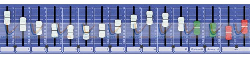 Midas DM16 trang bị thanh điều chỉnh dễ dàng sử dụng