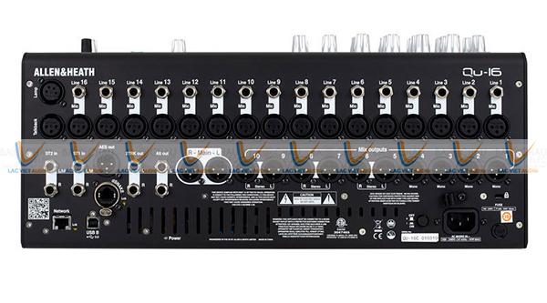 Mixer số Allen & Heath QU–16 có 16 ngõ tiền khuếch đại