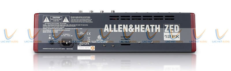 Mixer Allen Heath ZED 12FX có thiết kế đơn giản