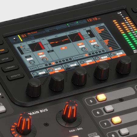 màn hình LCD chuyên nghiệp của Mixer Behringer X32 Producer