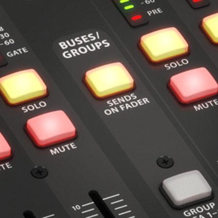 các nút chức năng chất lượng cao của Mixer Behringer X32 Producer