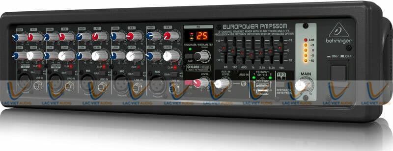 Mixer BEHRINGER PMP550M có thiết kế nhỏ gọn