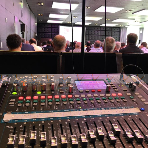 Mixer Qu 16 được sử dụng của nhiều không gian sự kiện