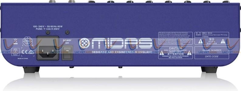 Mixer Midas DM12 cổng nguồn Phantom