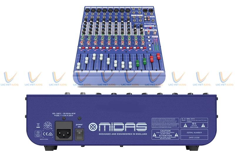 Mixer Midas DM16 có thiết kế gọn nhẹ hiện đại