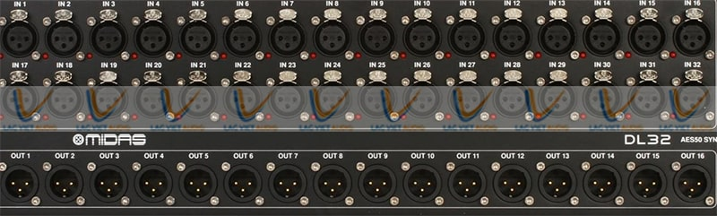 Mixer Midas M32 với 32 mic preamp