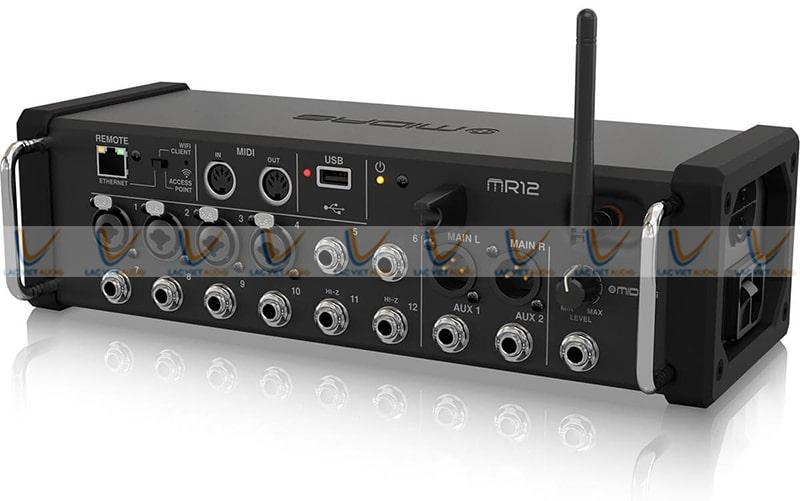 Mixer Midas MR 12thiết kế 2 tay cầm inox chắc chắn