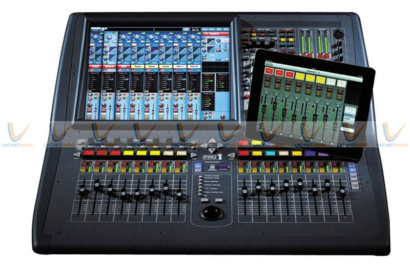 Mixer Midas Pro1-IP kết nối với thiết bị thông minh