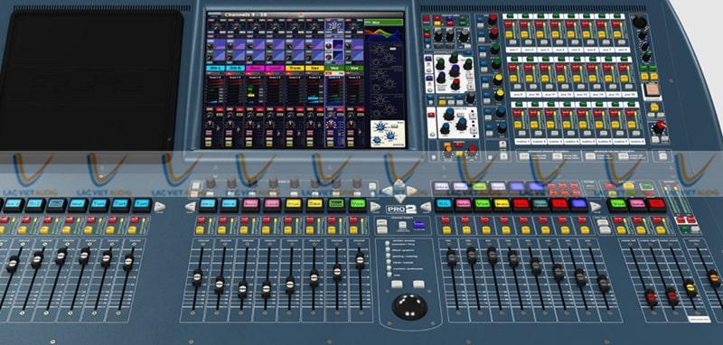 Mixer Midas Pro2-CC-TP trang bị màn hình LCD và nút điều chỉnh khoa học