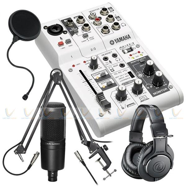 Yamaha AG03 có tính năng LOOPBACK để live stream trực tuyến