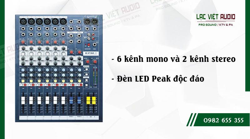Tính năng bàn mixer soundcraft EPM 6