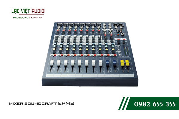 Sản phẩm mixer Soundcraft EPM 8 thiết kế đơn giản nhưng chất lượng cao