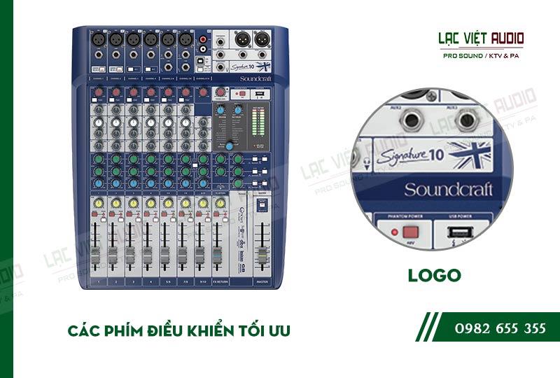 Các đặc điểm nổi bật của sản phẩm Mixer soundcraft Signature 10