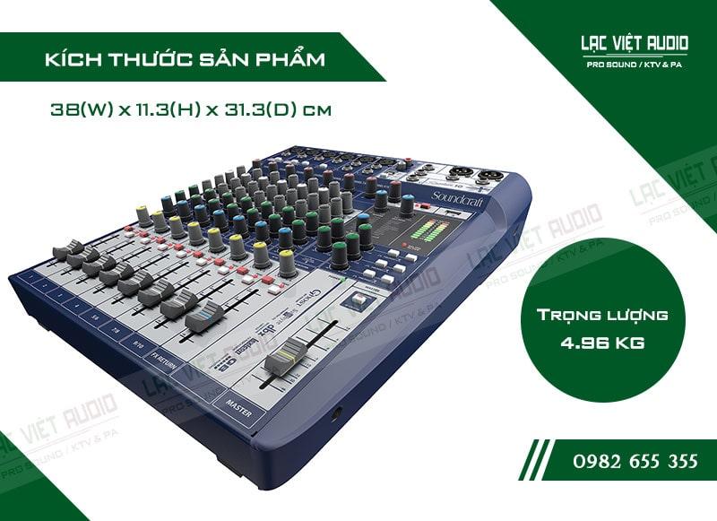 Thiết kế bên ngoài của sản phẩm Mixer soundcraft Signature 10