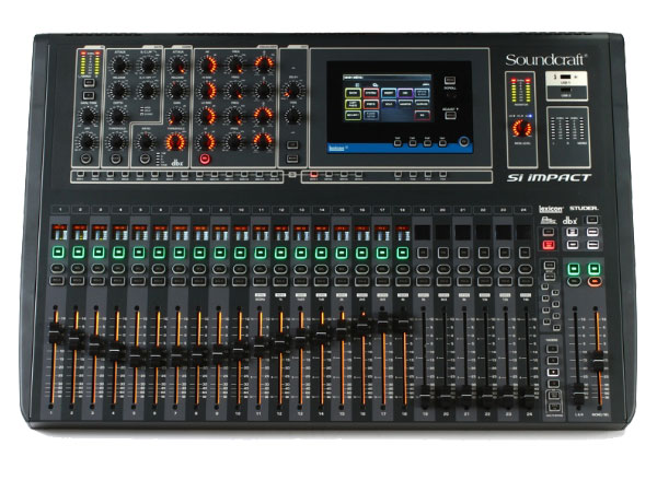 Thiết kế bắt mắt của mixer soundcraft SI Impact