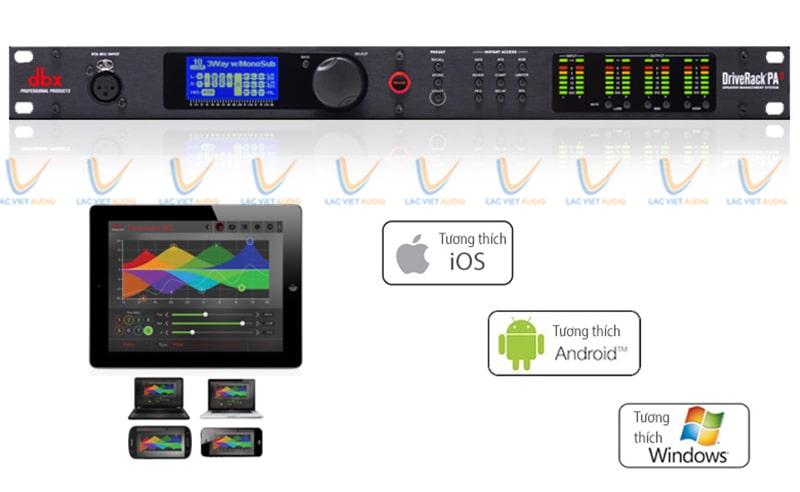 Nhiều Driverack có ứng dụng điều khiển từ xa bằng các thiết bị thông minh