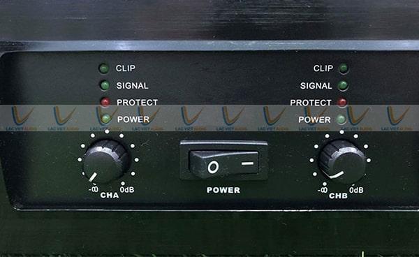 Cục đẩy bãi LA 16F với thiết kế nút điều chỉnh khoa học và tiện lợi