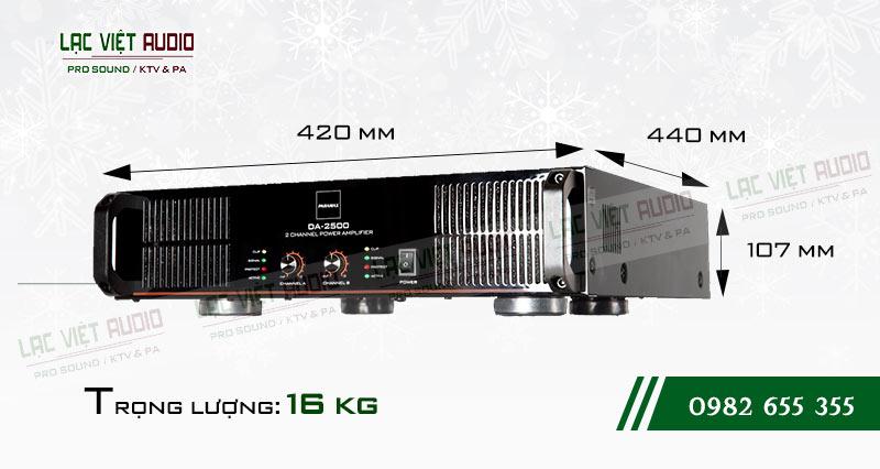 Cục đẩy công suất paramax DA 2500 thiết kế