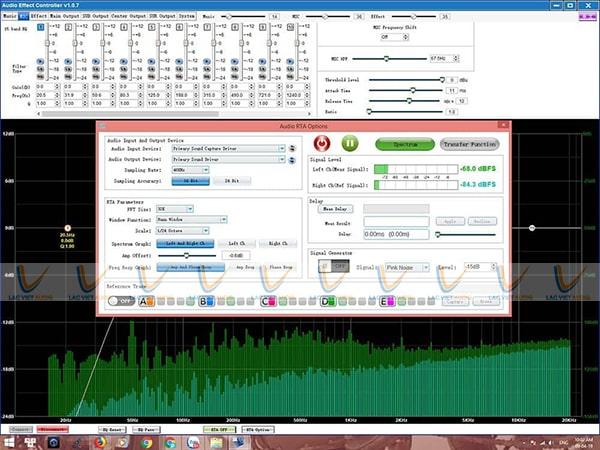 Giao diện phần mềm hiệu chỉnh của vang số DB S690