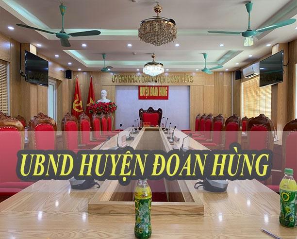Phòng họp UBND huyện Đoan Hùng