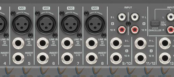 Hệ thống mic và các line của BEHRINGER PMP4000