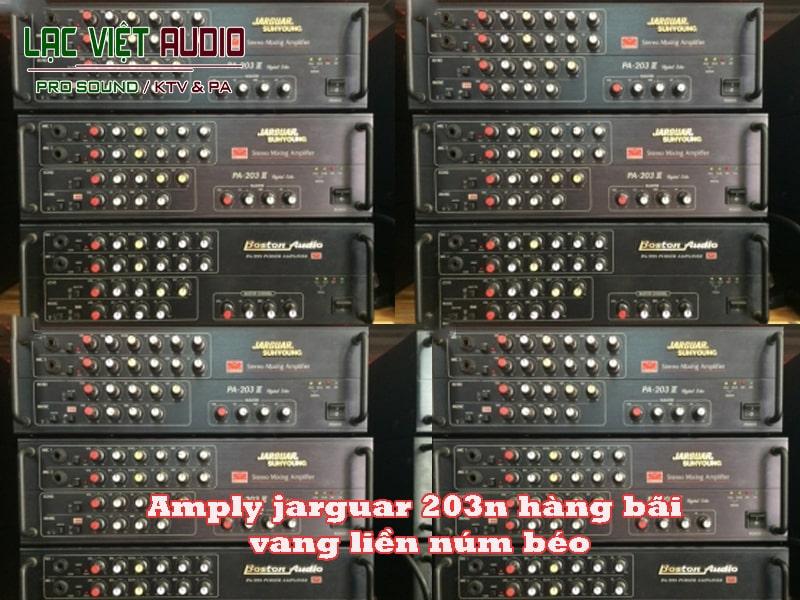 amply jarguar 203n hàng bãi vang liền núm béo là dòng amply nghe nhạc hàng bãi tốt