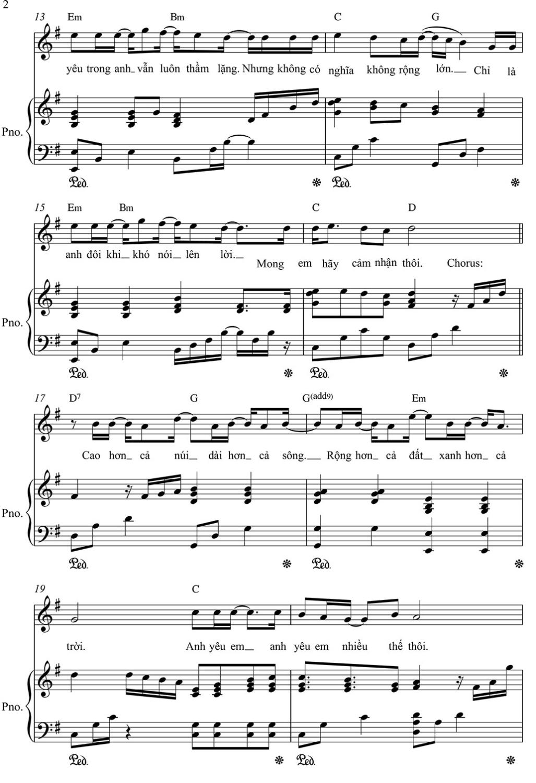 Sheet Piano Hơn cả Yêu Đức Phúc Phần 2