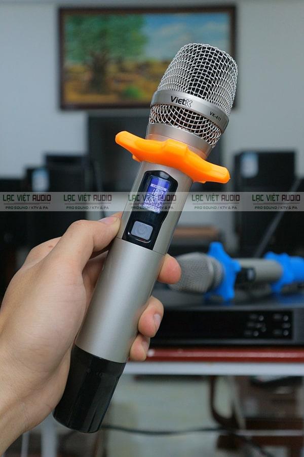 Thiết kế chi tiết tay micro không dây VietK