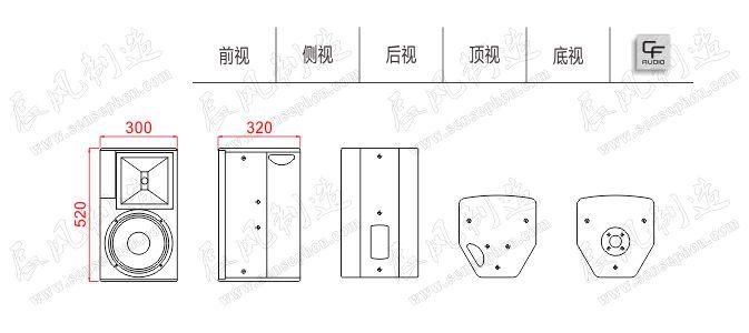 Thiết kế, cấu tạo loa CF TC - 10