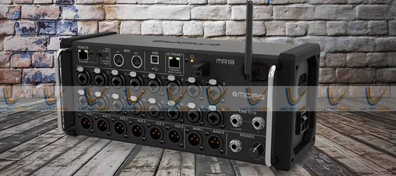 Thiết kế của Mixer Midas MR 18 đẹp mắt