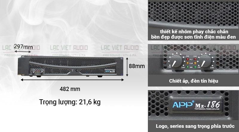 Thiết kế và kiểu dáng độc đáo trên APP MZ 186