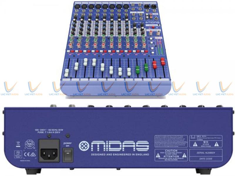 Thiết kế hiện đại của Mixer Midas DM12