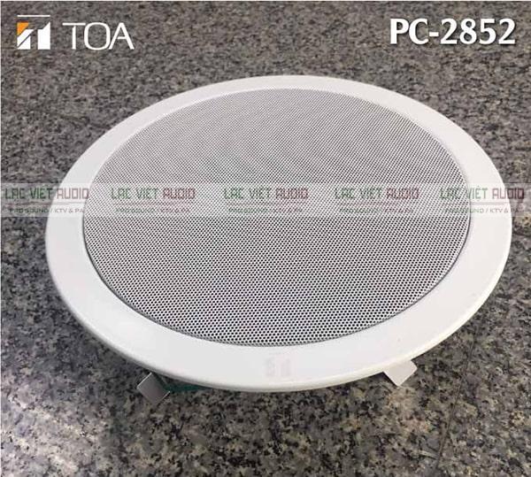 Loa âm trần 15W Toa PC-2852 có thiết kế gọn nhẹ, dễ dàng lắp đặt