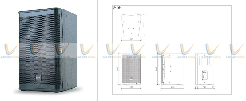 Thiết kế loa karaoke Mix X-12H hiện đại