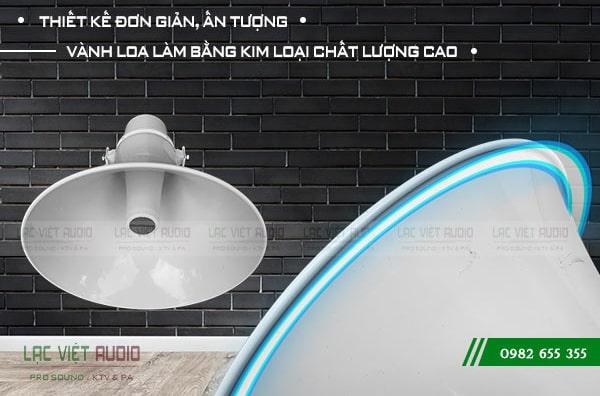 Loa phát thanh DB có thiết kế góc phủ âm rộng, với vành loa kim loại chắc chắn