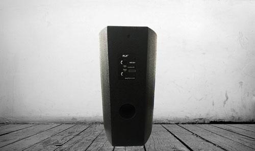 Thiết kế mặt sau loa karaoke FLY KR1201