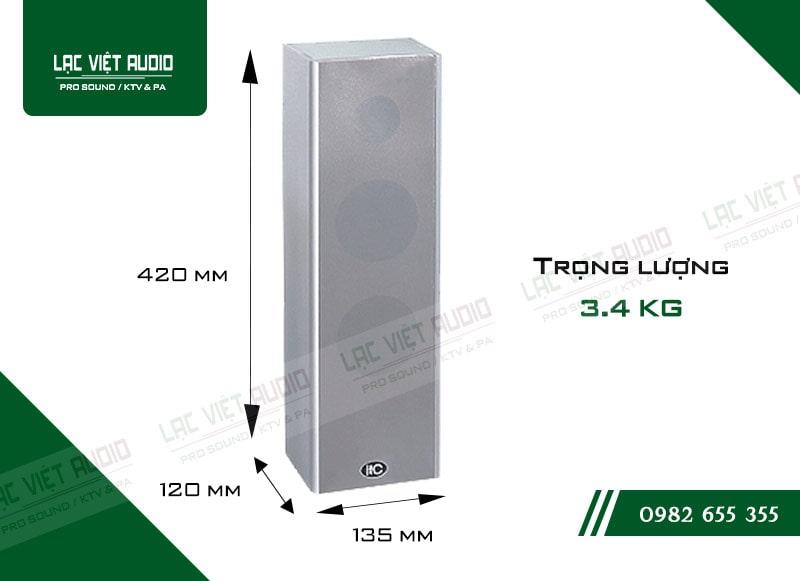 Thiết kế hiên đại và nhỏ gọn của loa cột ITC T302