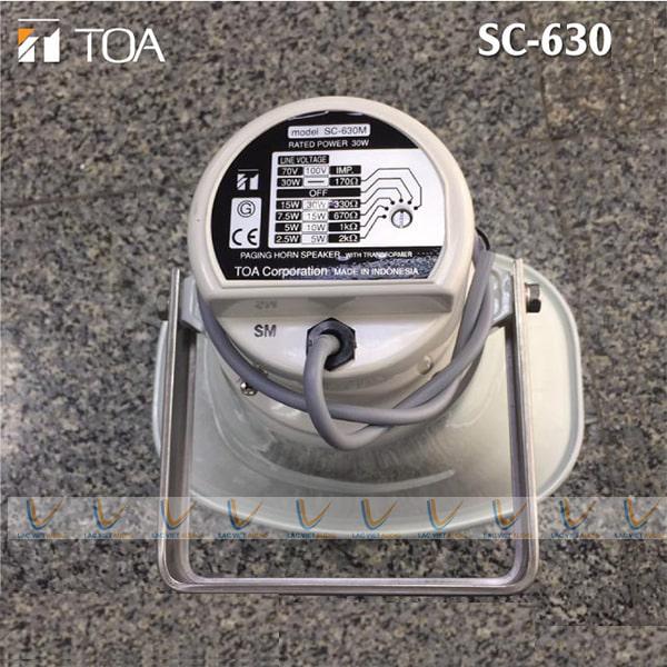 Thông số kỹ thuật sản phẩm loa nén 30W TOA SC-630