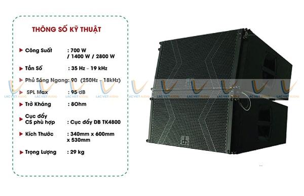 Loa array 30 đơn DB LA-112F cho mức công suất cao và khả năng tái tạo âm thanh mạnh mẽ a