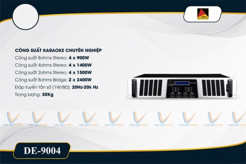 Thông số kỹ thuật của cục đẩy công suất EUDAC DE-9004