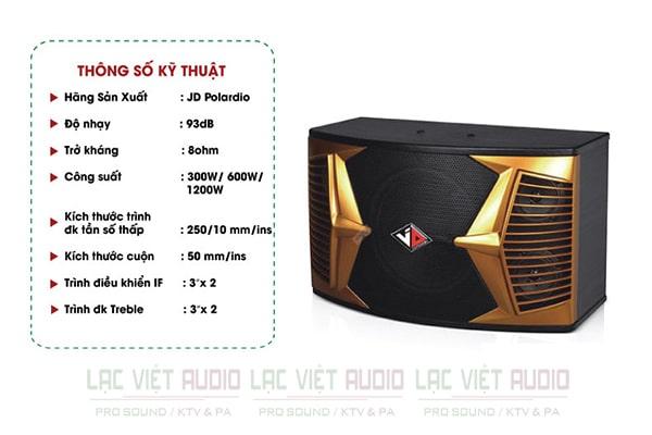 Thông số kĩ thuật loa JD PK-104